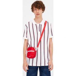 Koszulki polo: Koszulka polo z piki w pionowe paski