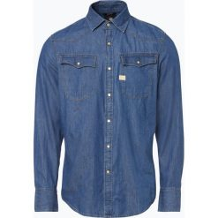 G-Star - Męska koszula jeansowa, niebieski. Niebieskie koszule męskie jeansowe marki G-Star, l, z kontrastowym kołnierzykiem. Za 249,95 zł.