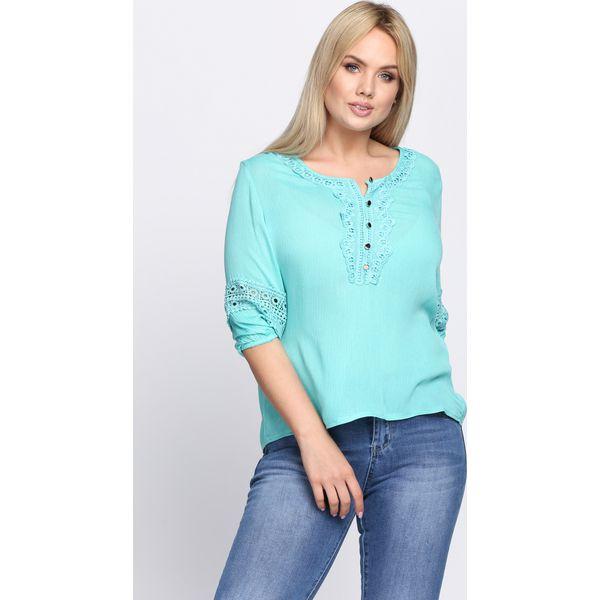 bca20f88bc Miętowa Bluzka Simple Vogue - Zielone bluzki damskie Born2be