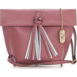 Torebki klasyczne damskie: Skórzana torebka w kolorze brudnego różu – 35 x 30 x 20 cm