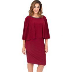 Długie sukienki: Sukienka do kolan z długim rękawem