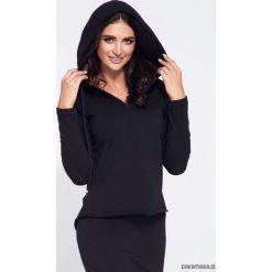 Czarna bluza damska z kapturem taliowana. Niebieskie bluzy z kapturem damskie marki Pakamera, z bawełny. Za 119,00 zł.