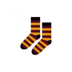 Harry Potter Gryffindor Paski - Skarpety. Brązowe skarpetki męskie Sox in the box, w kolorowe wzory, z bawełny. Za 25,00 zł.