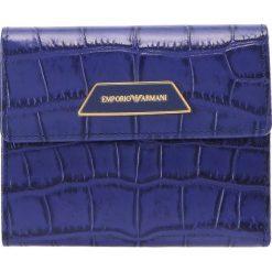 Emporio Armani PORTAFOGLIO COCCO  Portfel inchiostro. Niebieskie portfele damskie marki Emporio Armani. W wyprzedaży za 369,50 zł.