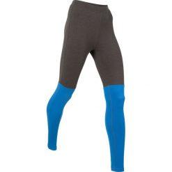 Legginsy sportowe, długie, Level 1 bonprix antracytowy melanż - lazurowy. Szare legginsy sportowe damskie bonprix, melanż. Za 79,99 zł.