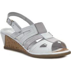 Rzymianki damskie: Sandały COMFORTABEL – 710602 Biały Szary