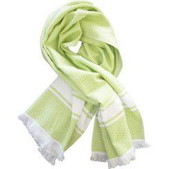"""Kąpielówki męskie: Fouta """"Chevron"""" w kolorze zielono-białym – 160 x 90 cm"""