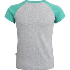 Frugi ZGREEN RAFE RAGLAN  Tshirt z nadrukiem grey marl/truck. Szare t-shirty męskie Frugi, z nadrukiem, z bawełny. Za 129,00 zł.