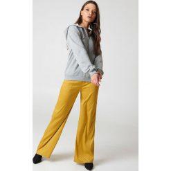 NA-KD Basic Bluza basic z kapturem - Grey. Różowe bluzy rozpinane damskie marki NA-KD Basic, prążkowane. Za 100,95 zł.