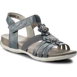 Sandały RIEKER - K2266-12 Blue. Czarne sandały dziewczęce marki Rieker, z materiału. Za 229,00 zł.