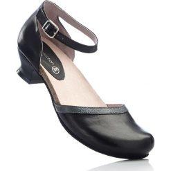 Wygodne czółenka skórzane bonprix czarny. Czarne buty ślubne damskie bonprix, ze skóry, na obcasie. Za 239,99 zł.