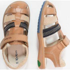 Kickers PLATINIUM Sandały camel/bleu. Niebieskie sandały męskie skórzane marki Kickers, na sznurówki. Za 309,00 zł.