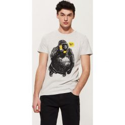 T-shirty męskie: T-shirt z grafiką – Kremowy