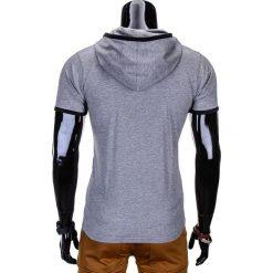 T-SHIRT MĘSKI Z KAPTUREM BEZ NADRUKU S682 - SZARY MELANŻ. Czerwone t-shirty męskie z nadrukiem marki Cropp, l, z kapturem. Za 25,00 zł.