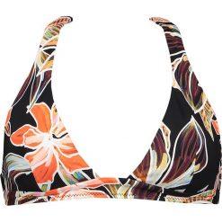 """Biustonosz bikini """"Vallie de Mai"""" w kolorze czarno-pomarańczowym. Brązowe biustonosze z fiszbinami Heidi Klum Intimates. W wyprzedaży za 172,95 zł."""