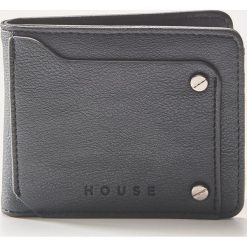 Portfel z eco skóry - Czarny. Czarne portfele męskie House, ze skóry. Za 39,99 zł.