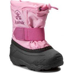 Kozaki dziewczęce: Śniegowce KAMIK – Tickleeu NK9446  Magenta 1