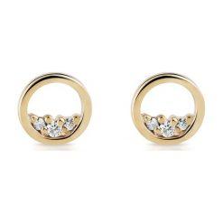 Kolczyki damskie: PROMOCJA Kolczyki Złote - złoto żółte 585, Brylant 0,05ct