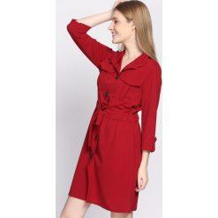 Sukienki: Bordowa Sukienka Cloudless