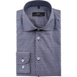 Koszula RICCARDO 15-01-32. Szare koszule męskie slim Giacomo Conti, m, paisley, z bawełny, z włoskim kołnierzykiem. Za 229,00 zł.