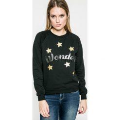 Femi Stories - Bluza Wonder. Czarne bluzy z nadrukiem damskie marki Femi Stories, l, z bawełny, bez kaptura. W wyprzedaży za 129,90 zł.