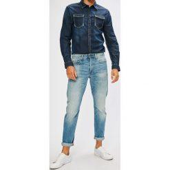 G-Star Raw - Jeansy 3301. Niebieskie jeansy męskie z dziurami marki G-Star RAW. W wyprzedaży za 359,90 zł.