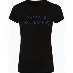 Armani Exchange - T-shirt damski, czarny. Czarne t-shirty damskie marki Armani Exchange, l, z materiału, z kapturem. Za 169,95 zł.