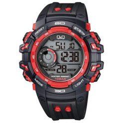 Biżuteria i zegarki męskie: Zegarek Q&Q Męski M156-002 Dual Time czarny