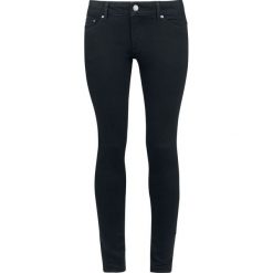 Boyfriendy damskie: Cheap Monday High Skin - Pure Black Jeansy damskie czarny