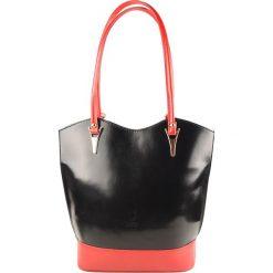 Torebki klasyczne damskie: Skórzana torebka w kolorze czarnym – 28 x 23 x 10 cm