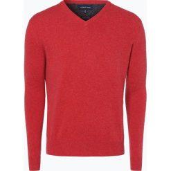 Swetry klasyczne męskie: Andrew James – Sweter męski z dodatkiem kaszmiru, czerwony