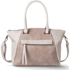 """Torebka """"Trapez"""" bonprix beżowo-kremowy. Brązowe torebki klasyczne damskie bonprix. Za 79,99 zł."""
