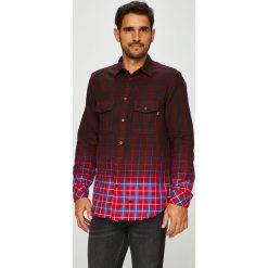 Diesel - Koszula. Brązowe koszule męskie na spinki marki Diesel, l, z bawełny, z klasycznym kołnierzykiem, z długim rękawem. W wyprzedaży za 499,90 zł.