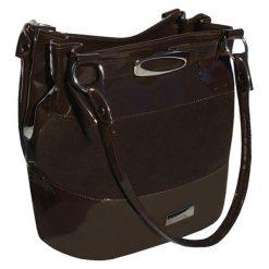 Torebki klasyczne damskie: Skórzana torebka w kolorze brązowym – (S)35 x (W)28 x (G)18 cm