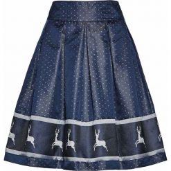 Spódnice wieczorowe: Spódnica satynowa w rustykalnym stylu bonprix ciemnoniebiesko-srebrny