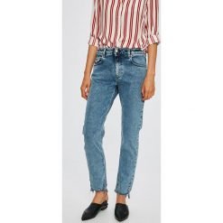 Diesel - Jeansy Neekhol. Niebieskie proste jeansy damskie marki Diesel. W wyprzedaży za 579,90 zł.