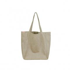 Lazy bag khaki duża torba z grubej bawełny na zamek. Zielone torebki klasyczne damskie marki Hairoo, w paski, z bawełny, duże. Za 195,00 zł.