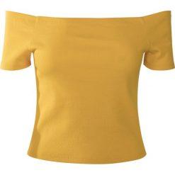 Urban Classics Ladies Off Shoulder Rib Tee Koszulka damska żółty. Żółte t-shirty damskie Urban Classics, m, z materiału, z kołnierzem typu carmen, z krótkim rękawem. Za 24,90 zł.