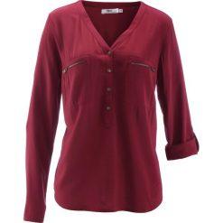 Bluzka z wiskozy, długi rękaw bonprix czerwony klon. Czerwone bluzki asymetryczne bonprix, z wiskozy, z długim rękawem. Za 74,99 zł.