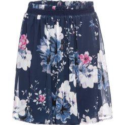 Spódnica szyfonowa bonprix ciemnoniebieski w kwiaty. Białe spódniczki marki bonprix, z nadrukiem, z szyfonu. Za 109,99 zł.