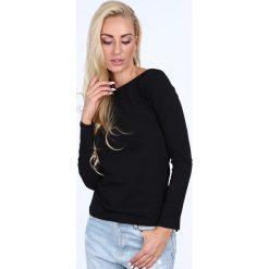 Bluzka z długim rękawem czarna 0435. Czarne bluzki longsleeves marki Fasardi, m, z dresówki. Za 29,00 zł.