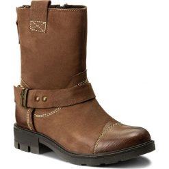 Botki LASOCKI - WI23-DEMETRA-07 Brązowy. Brązowe buty zimowe damskie Lasocki, z nubiku. Za 229,99 zł.