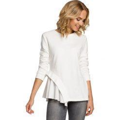 Bluzki, topy, tuniki: Dwuwarstwowa bluzka z asymetrią - ecru