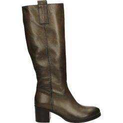 Kozaki - 314-64 SA FAN. Brązowe buty zimowe damskie Venezia, ze skóry. Za 299,00 zł.