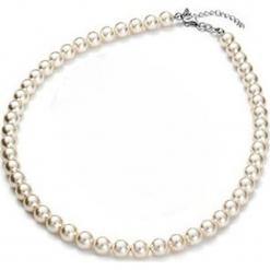 Naszyjnik z perełek w kolorze kremowym - dł. 43 cm. Białe naszyjniki damskie marki Sinsay. W wyprzedaży za 90,95 zł.