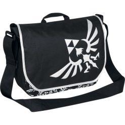 The Legend Of Zelda Logo Torba kurierska czarny/srebrny. Czarne torby na ramię męskie The Legend Of Zelda, z aplikacjami, na ramię, małe. Za 99,90 zł.