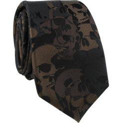 Krawat jedwabny KWCR000221. Brązowe krawaty męskie marki Giacomo Conti, z jedwabiu. Za 129,00 zł.