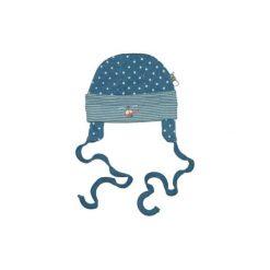 Ebi & Ebi  Fairtrade Czapka Gwiazdki, niebieski. Niebieskie czapeczki niemowlęce marki Ebi & Ebi, z bawełny, z długim rękawem. Za 35,00 zł.