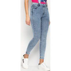 Spodnie damskie: Niebieskie Jegginsy Dinky