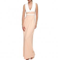 Sukienka w kolorze biało-jasnoróżowym. Czerwone długie sukienki marki YULIYA BABICH, xs. W wyprzedaży za 349,95 zł.